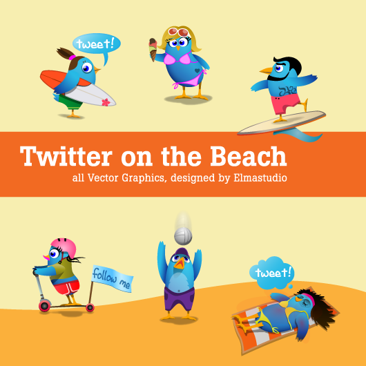 Elmastudio TwitterIcons beach 45+ Delicious Free Twitter Icons and Resources