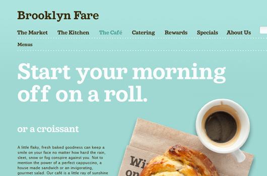 Webseite von Brooklyn Fare