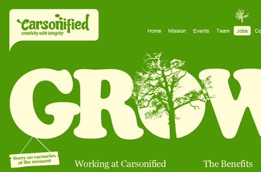 Webseite von Carsonified