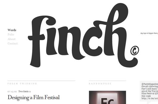 Webseite von Finch