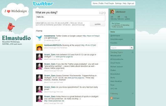 Mein Twitter Hintergrund