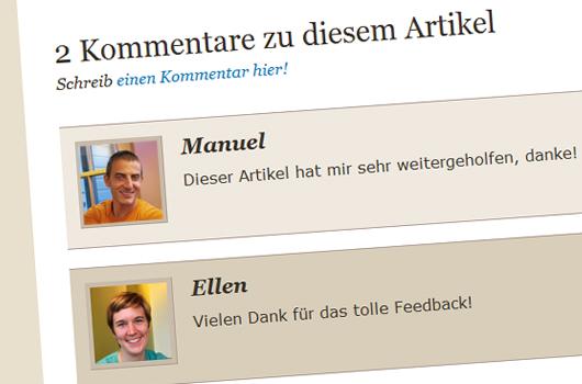 WordPress Tipps: Kommentar des Artikelautors hervorheben