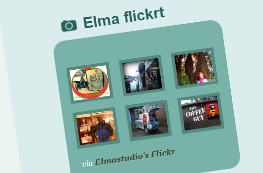Elmastudio Flickr Badge