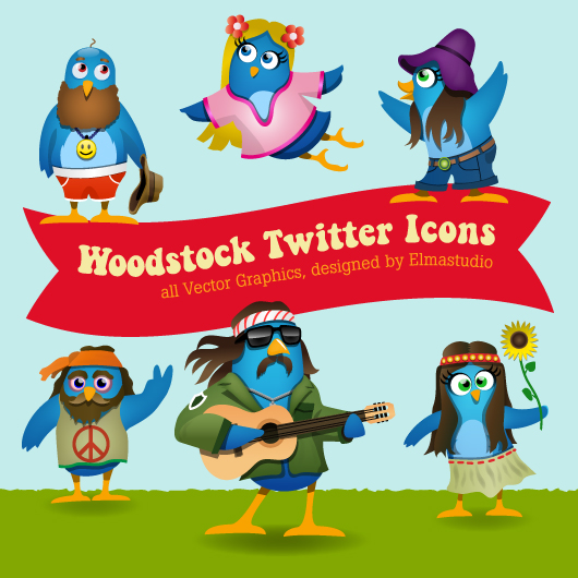 Freebie Twitter Icon Set- free download