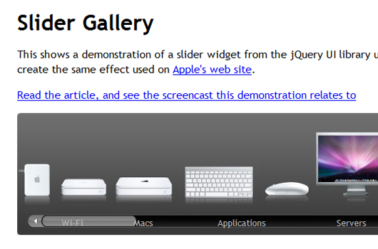 Javascript Slider Effekte