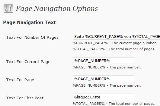 Seitennavi mit dem WP-PageNavi Plugin