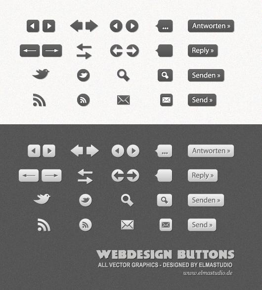 Free Vector Webdesign Buttons