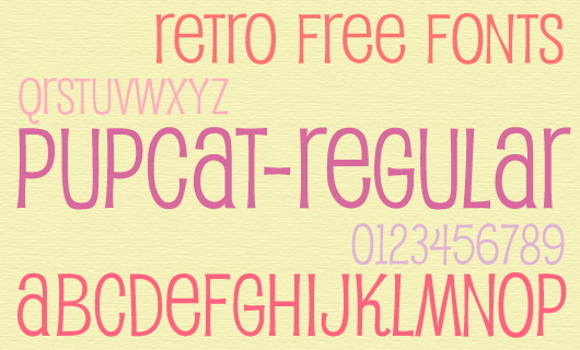 Retro Free Fonts for Webdesign