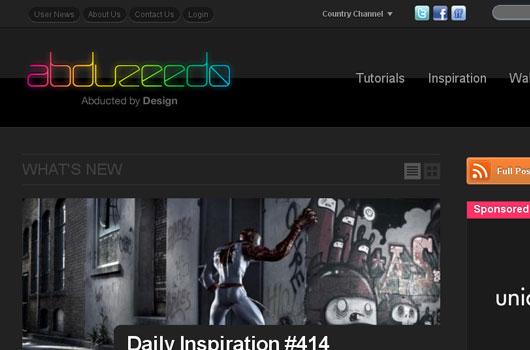Webdesign Trends dunkler Hintergrund