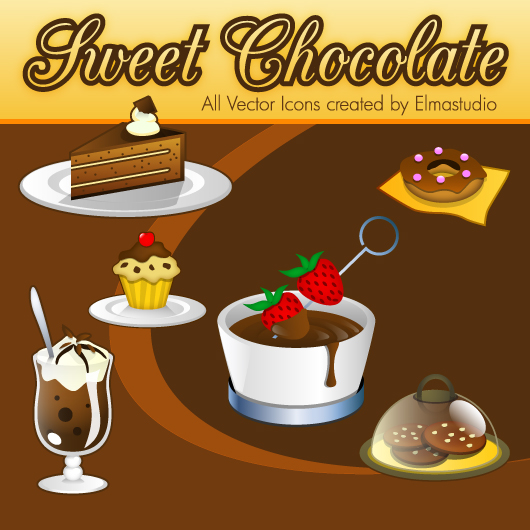free Chocolate Vector Icons