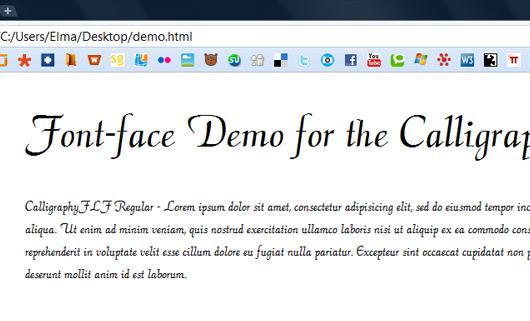 @font-face Schriften einbetten