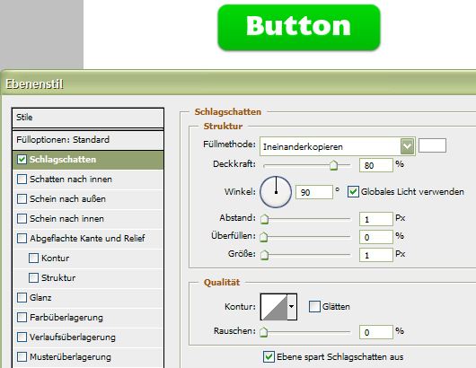Web 2.0 Buttons Photoshop-Tutorial