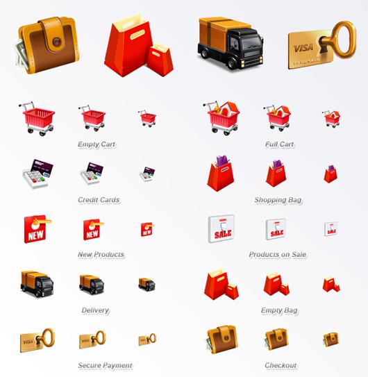 kostenlose e-Commerce Icon-Sets