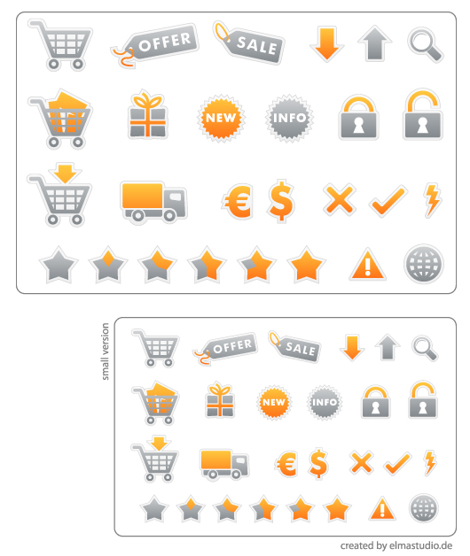 free e-Commerce Icons - white