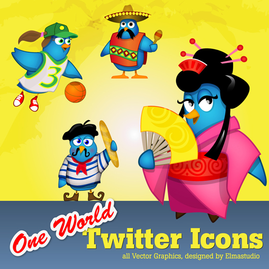 Twitter Icons One World - free download