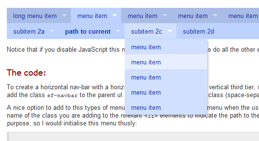 JavaScript Dropdown-Menüs