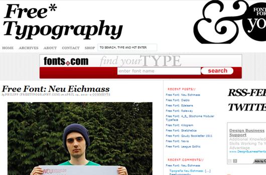 Webseiten und Blogs für Typografie-Liebhaber