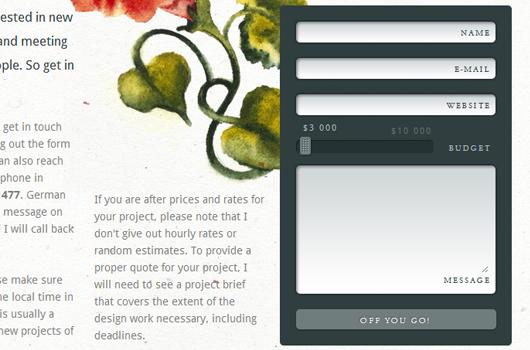 Webdesign Inspiration: JavaScript Elemente