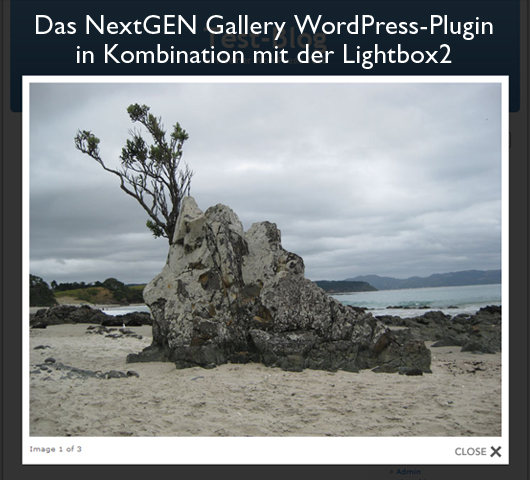 Lightbox-Effekt mit dem NextGEN Gallery WordPress-Plugin