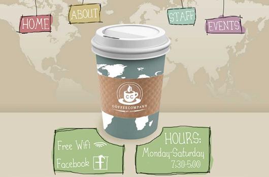 Webdesign Inspiration Kaffee
