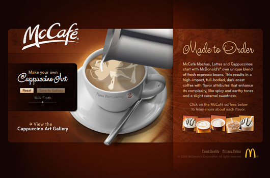 Webdesign Inspiration Kaffee