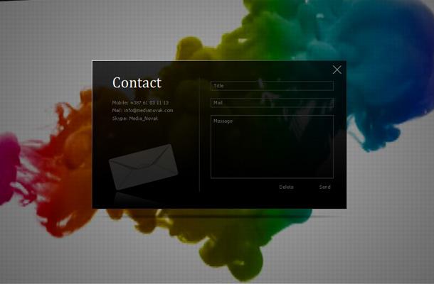 Webdesign Inspiration Kontaktformular