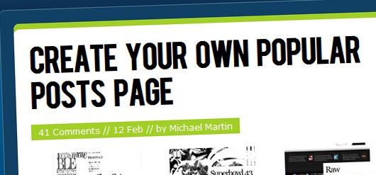 beliebteste Artikel in WordPress