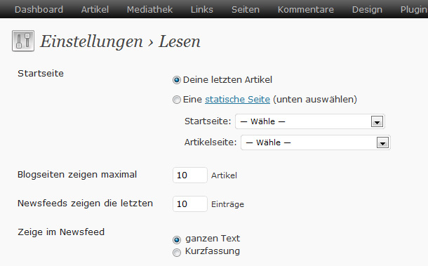 RSS-Feed mit Feedburner