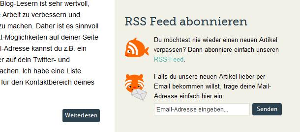 RSS-Feed mit Feedburner