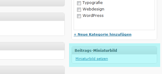 WordPress neuste Blog-Artikel mit Thumbnails
