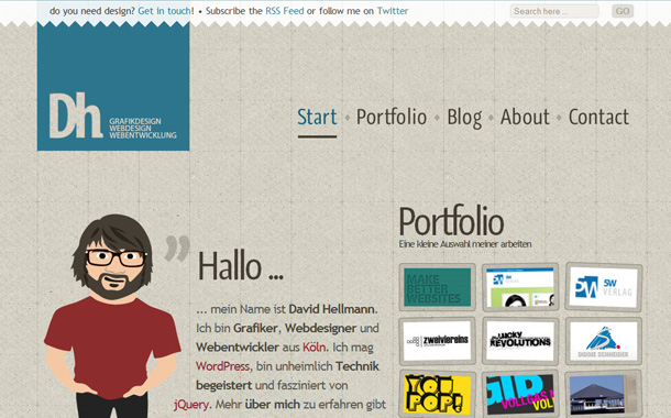 kreative, deutschsprachige WordPress Webseiten