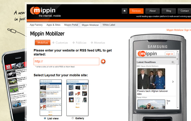 Tools fuer mobile WordPress Webseiten