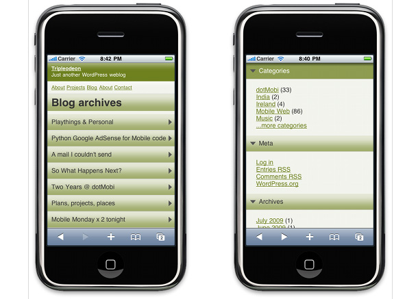 Tools fuer mobile WordPress Webseiten