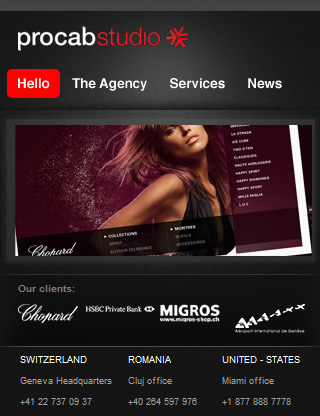 mobile Webseiten Designs