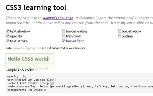 praktische CSS3 Online-Tools