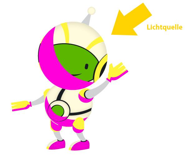 Roboter Maskottchen illustrieren