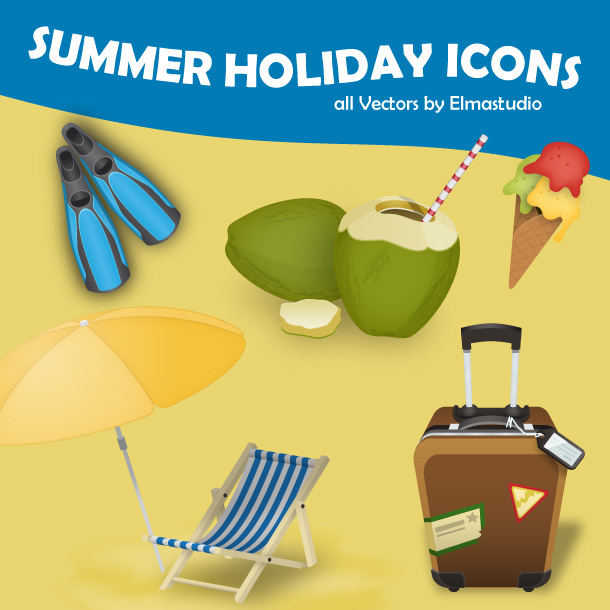 free Summer Holiday Icons