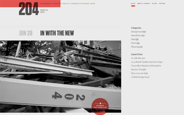 WordPress Blogs minimalistisch