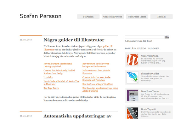 WordPress Blogs minimalistisch