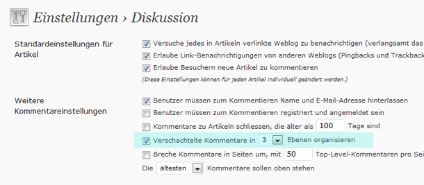 WordPress Kommentare optimieren