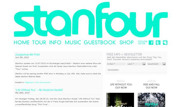 WordPres Seiten Musiker