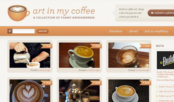 Cafe Webseite Inspirationen