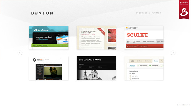 Webdesign Inspiration Featured Slider