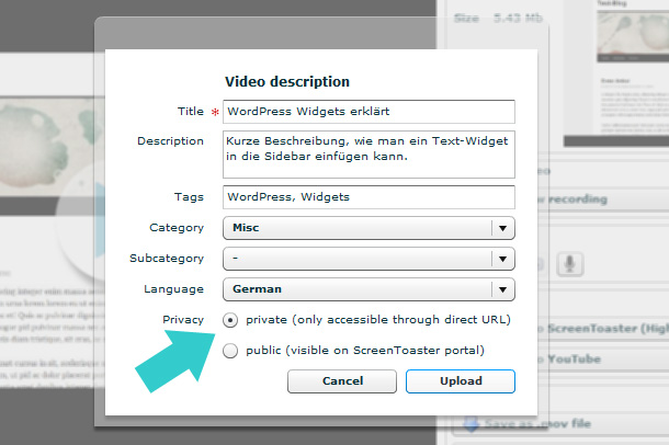 Praktische Screencasts fuer Kundenprojekte