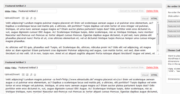 WordPress Plugin Slidedeck Lite