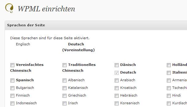 mehrsprachige WordPress-Webseiten mit WPML