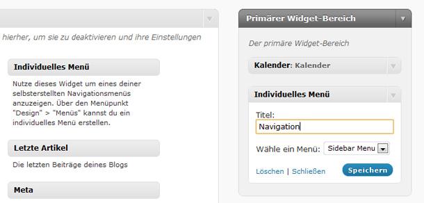 WordPress Custom Menues nutzen