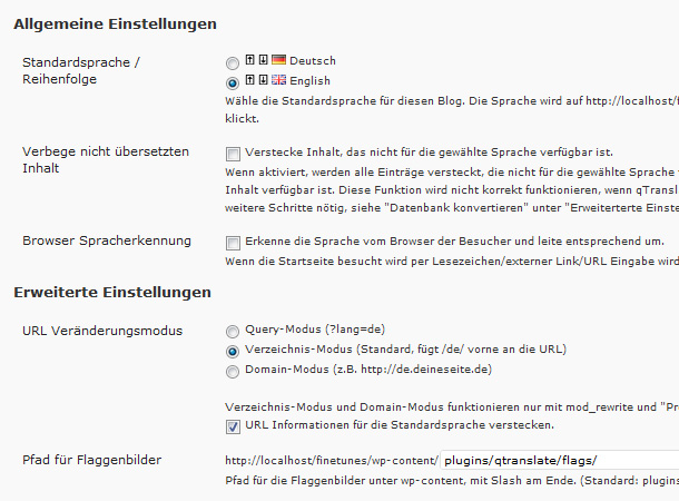 WordPress mehrsprachig