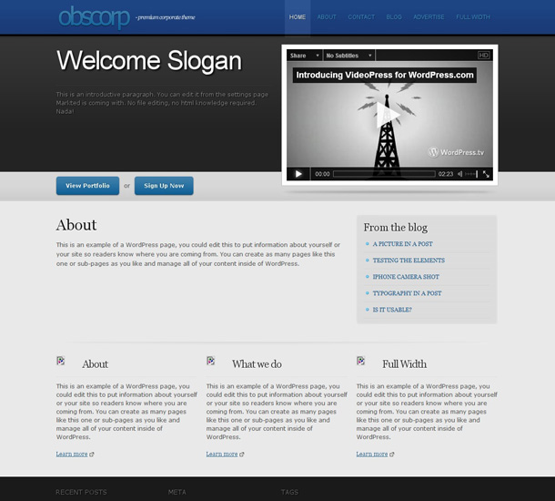 WordPress Themes als CMS