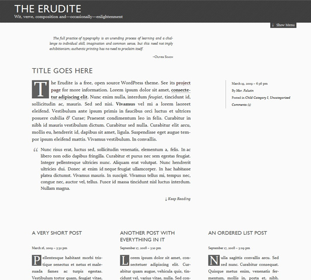 WordPress Themes private Blogs